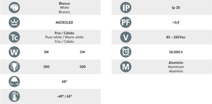 pro-th-iluminacion-dle27mr16gu10-especs